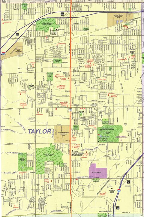 View a map of the City of Taylor