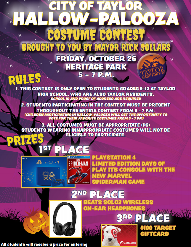 Costume Contest Flyer