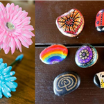 A Picture of Flower Pens & Painted Rocks