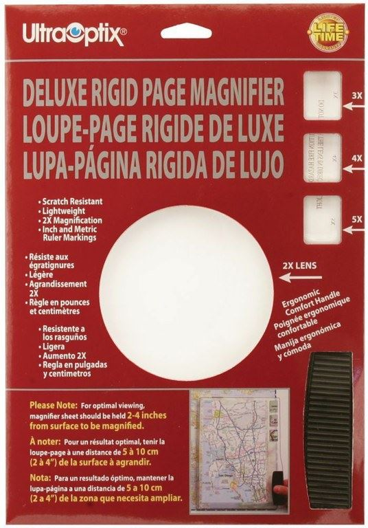 Deluxe Rigid Page Magnifier